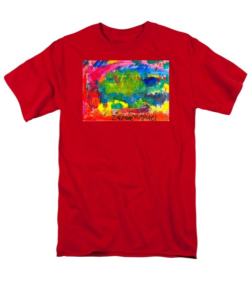 Men's T-Shirt  (Regular Fit) featuring the painting Colors by Artists With Autism Inc