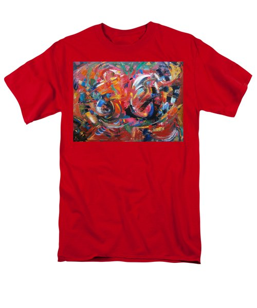 Men's T-Shirt  (Regular Fit) featuring the painting Committee Action by Gary Coleman