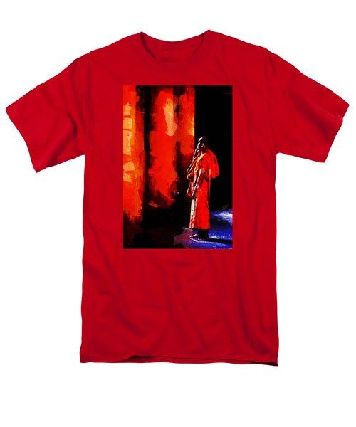 Men's T-Shirt  (Regular Fit) featuring the digital art Cool Orange Monk by Cameron Wood
