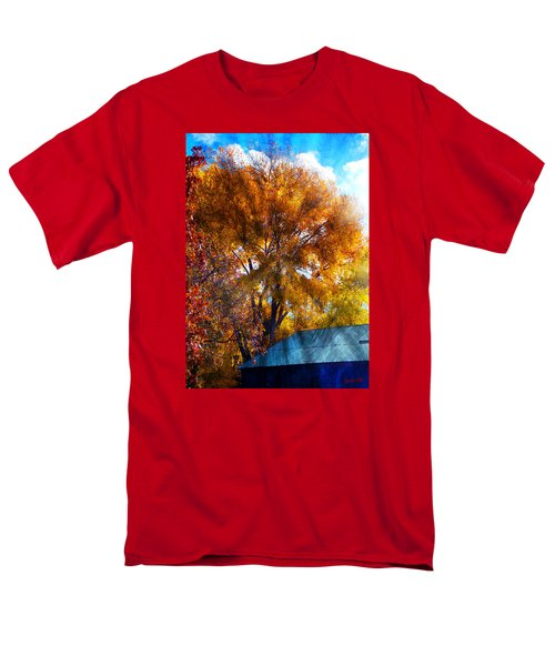 Cottonwood Conversations With Cobalt Sky  Men's T-Shirt  (Regular Fit) by Anastasia Savage Ealy