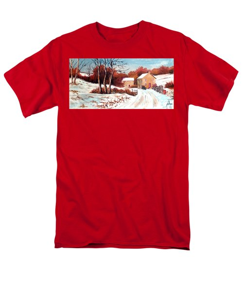Country Snow Men's T-Shirt  (Regular Fit) by Jim Phillips