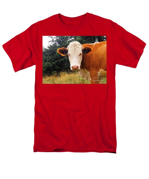 Men's T-Shirt  (Regular Fit) featuring the photograph Cow In Pasture by MGL Meiklejohn Graphics Licensing