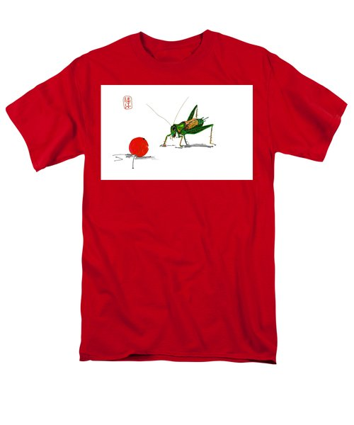 Cricket  Joy With Cherry Men's T-Shirt  (Regular Fit) by Debbi Saccomanno Chan