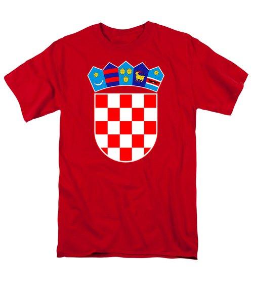Croatia Coat Of Arms Men's T-Shirt  (Regular Fit) by Movie Poster Prints