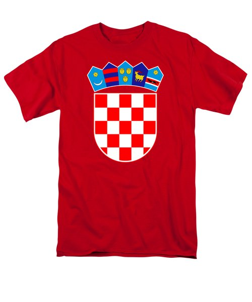 Croatia Coat Of Arms Men's T-Shirt  (Regular Fit)