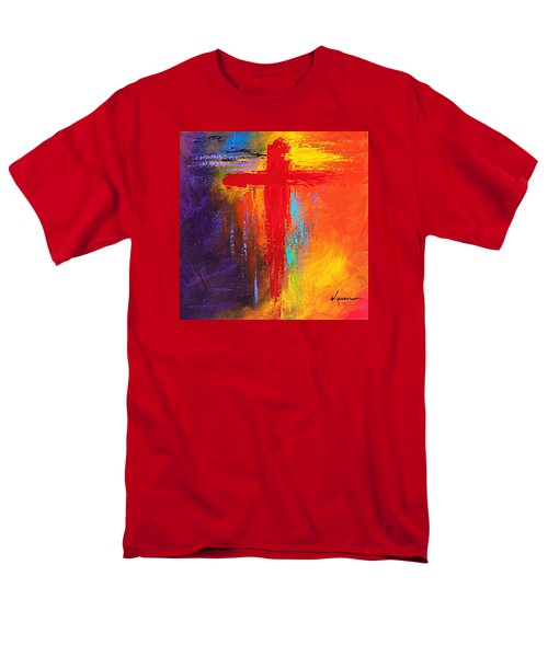 Men's T-Shirt  (Regular Fit) featuring the painting Cross by Kume Bryant