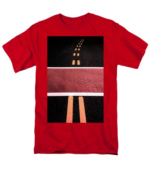 Crosswalk Conversion Of Traffic Lines Men's T-Shirt  (Regular Fit)