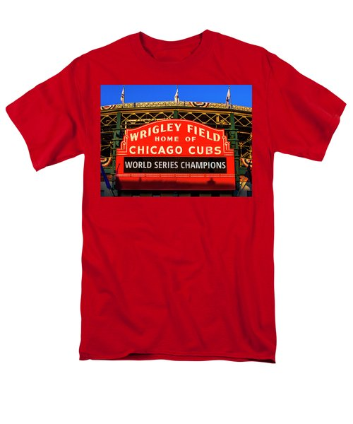 Cubs Win World Series Men's T-Shirt  (Regular Fit) by Andrew Soundarajan