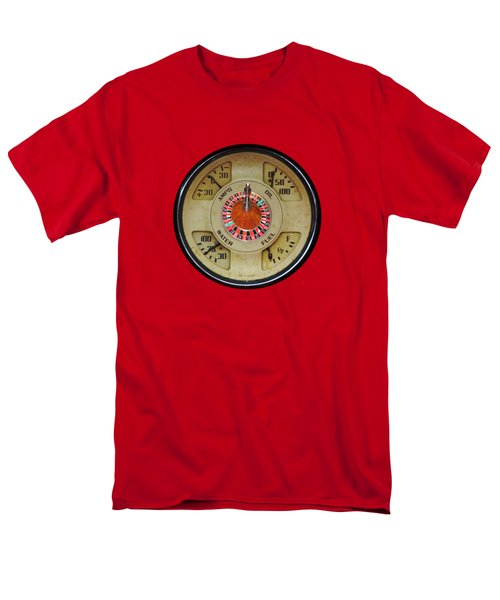 Custom Automobile Instrument With Lucky Roulette Wheel Design  Men's T-Shirt  (Regular Fit) by Tom Conway