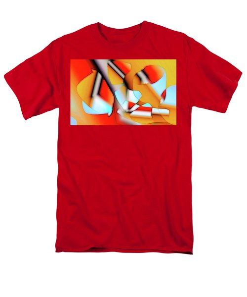 Men's T-Shirt  (Regular Fit) featuring the digital art Cutouts by Ron Bissett