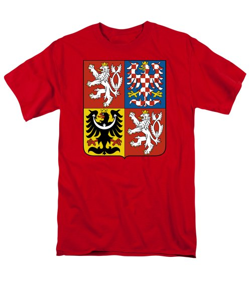 Czech Republic Coat Of Arms Men's T-Shirt  (Regular Fit) by Movie Poster Prints