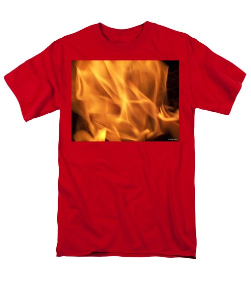 Men's T-Shirt  (Regular Fit) featuring the photograph Dancing With Fire by Betty Northcutt