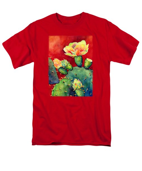 Men's T-Shirt  (Regular Fit) featuring the painting Desert Bloom by Hailey E Herrera