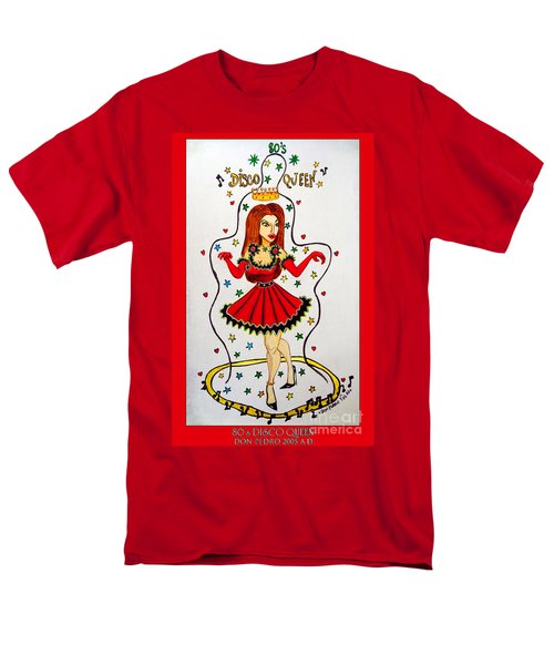 Men's T-Shirt  (Regular Fit) featuring the painting Disco Queen 80's by Don Pedro De Gracia