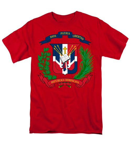 Dominican Republic Coat Of Arms Men's T-Shirt  (Regular Fit) by Movie Poster Prints