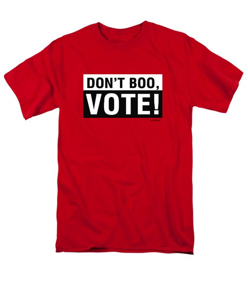 Men's T-Shirt  (Regular Fit) featuring the digital art Don't Boo Vote- Art By Linda Woods by Linda Woods