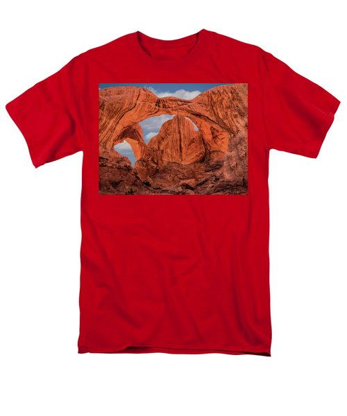 Double Arches At Arches National Park Men's T-Shirt  (Regular Fit) by Penny Lisowski