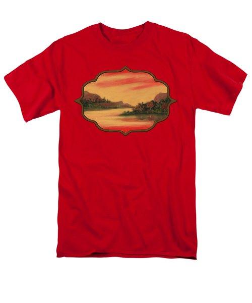Dragon Sunset Men's T-Shirt  (Regular Fit) by Anastasiya Malakhova