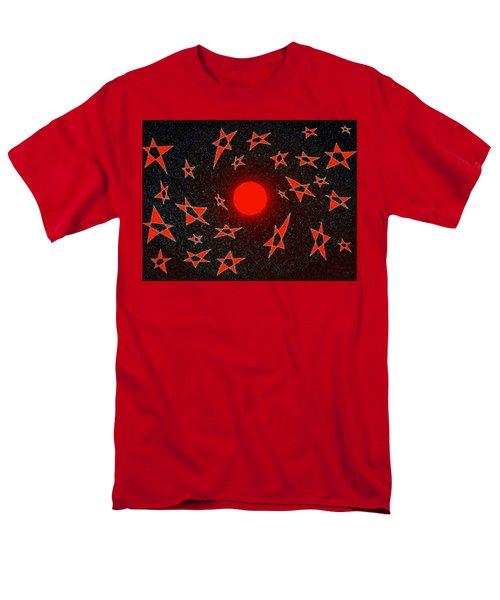 Men's T-Shirt  (Regular Fit) featuring the mixed media Dramatic Radiation  by Will Borden