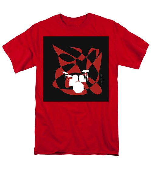 Drums In Black Strife Men's T-Shirt  (Regular Fit) by David Bridburg