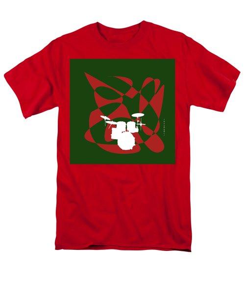 Drums In Green Strife Men's T-Shirt  (Regular Fit) by David Bridburg