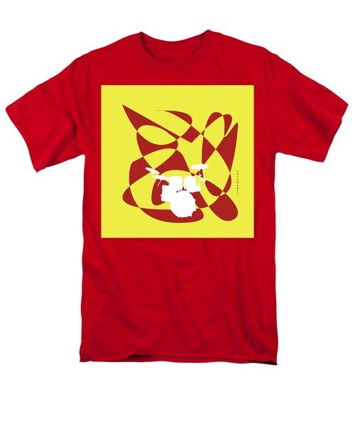 Drums In Yellow Strife Men's T-Shirt  (Regular Fit) by David Bridburg