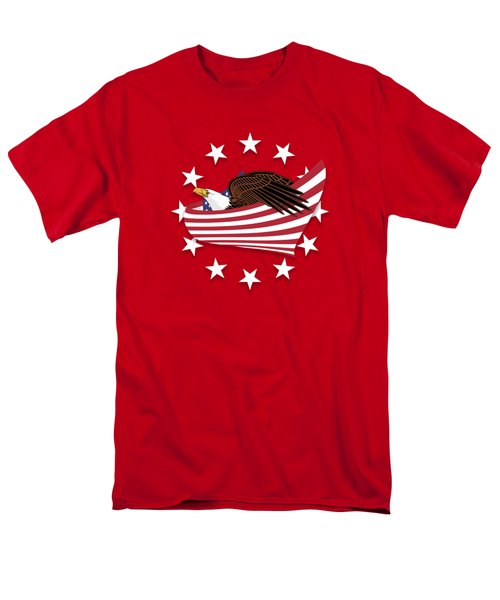 Eagle Of The Free V1 Men's T-Shirt  (Regular Fit) by Bruce Stanfield