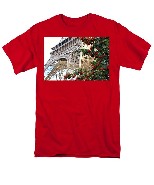 Men's T-Shirt  (Regular Fit) featuring the photograph Eiffel Tower In Winter by Katie Wing Vigil