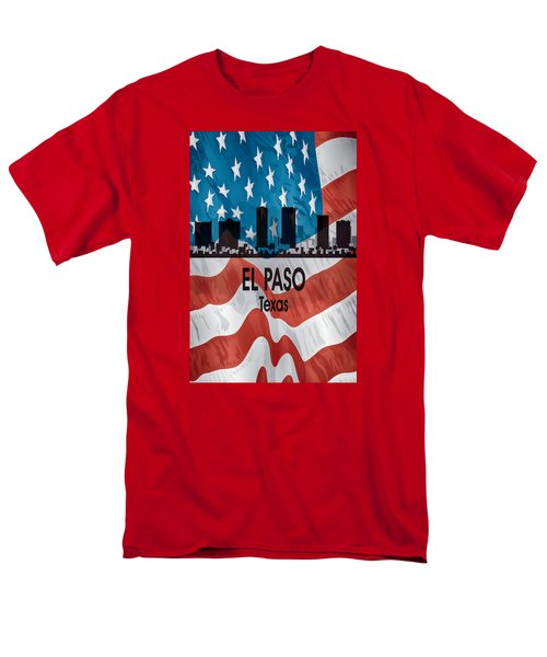El Paso Tx American Flag Vertical Men's T-Shirt  (Regular Fit) by Angelina Vick