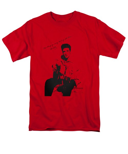 Elvis Presley - When Things Go Wrong Men's T-Shirt  (Regular Fit) by Serge Averbukh