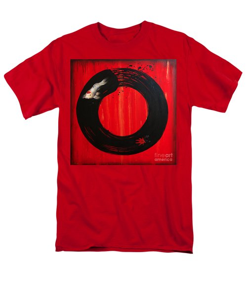 Enso With Koi Red And Gold Men's T-Shirt  (Regular Fit) by Sandi Baker