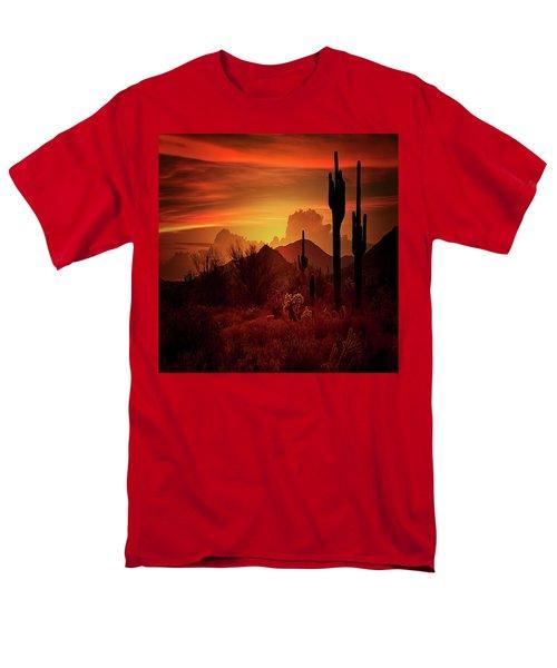 Men's T-Shirt  (Regular Fit) featuring the photograph Essence Of The Southwest - Square  by Saija Lehtonen