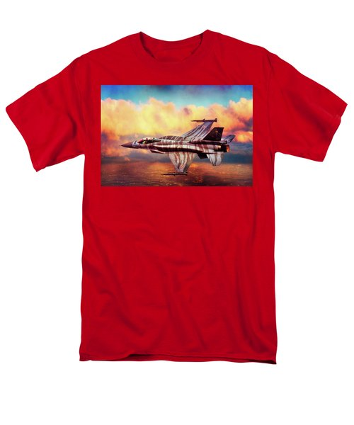 Men's T-Shirt  (Regular Fit) featuring the photograph F16c Fighting Falcon by Chris Lord