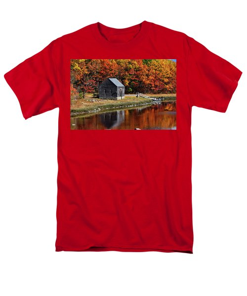 Fall At Rye Men's T-Shirt  (Regular Fit) by Tricia Marchlik