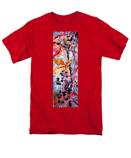 Men's T-Shirt  (Regular Fit) featuring the painting Fall II by Kovacs Anna Brigitta