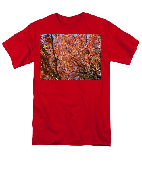 Fall In The Blue Ridge Mountains Men's T-Shirt  (Regular Fit) by Flavia Westerwelle