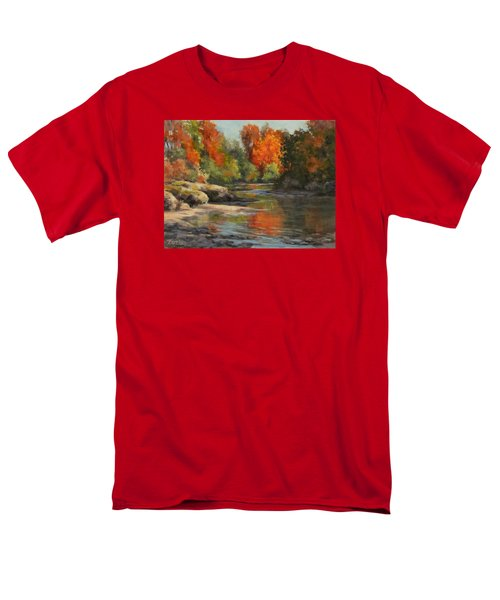 Men's T-Shirt  (Regular Fit) featuring the painting Fall Reflections by Karen Ilari