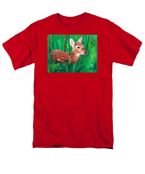 Men's T-Shirt  (Regular Fit) featuring the painting Fawn by Ellen Canfield