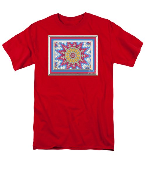 Feathered Star Quilt Men's T-Shirt  (Regular Fit) by Shirley Moravec