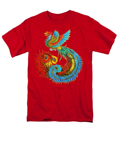 Fenghuang Chinese Phoenix Men's T-Shirt  (Regular Fit) by Rebecca Wang