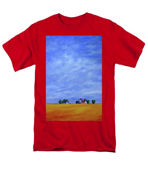 Men's T-Shirt  (Regular Fit) featuring the painting Fields Of Gold by Jo Appleby