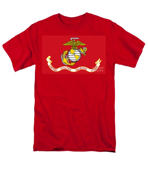 Men's T-Shirt  (Regular Fit) featuring the painting Flag Of The United States Marine Corps by Pg Reproductions