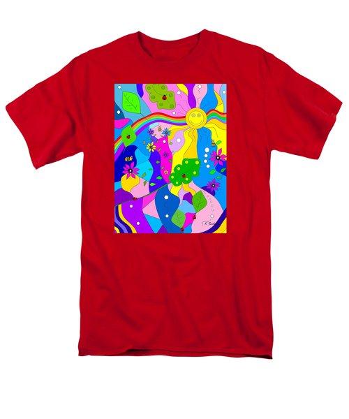 Men's T-Shirt  (Regular Fit) featuring the painting Flamboyant Lion by Kathleen Sartoris
