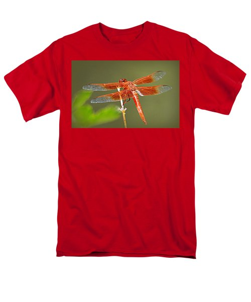 Men's T-Shirt  (Regular Fit) featuring the photograph Flame Skimmer by AJ Schibig