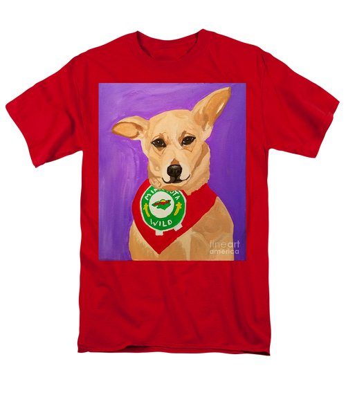Men's T-Shirt  (Regular Fit) featuring the painting Floppy Ear by Ania M Milo