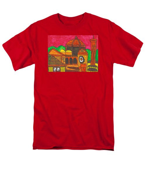 Men's T-Shirt  (Regular Fit) featuring the painting Florence by Artists With Autism Inc