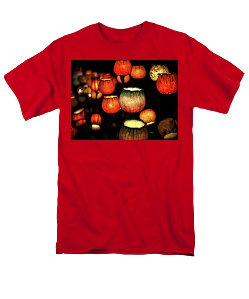 Flower Lamps Men's T-Shirt  (Regular Fit) by Carol Crisafi
