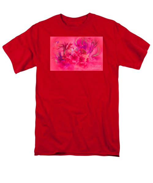 Flower Art Pinky Pink  Men's T-Shirt  (Regular Fit) by Sherri's Of Palm Springs