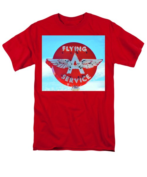 Flying A Service Sign Men's T-Shirt  (Regular Fit) by Joan Reese