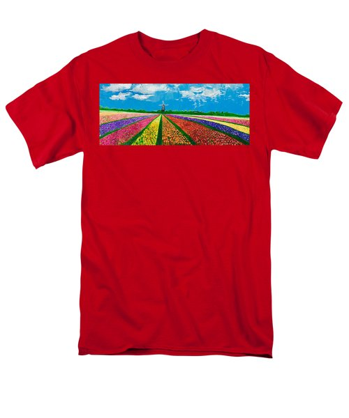 Follow The Rainbow Men's T-Shirt  (Regular Fit) by Belinda Low